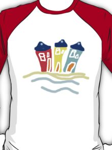 HAPPY BEACH HUTS tee/baby grow T-Shirt