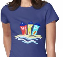 HAPPY BEACH HUTS tee/baby grow Womens Fitted T-Shirt