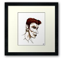 David Bowie Caricature Framed Print