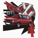 VW Golf GTI MK1 T-Shirt by Autographics