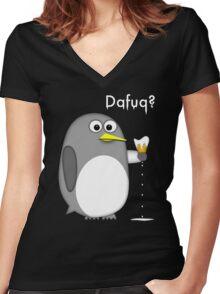Dafuq? Women's Fitted V-Neck T-Shirt