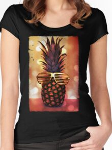 Pineapple with Grill Glasses Women's Fitted Scoop T-Shirt