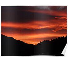 Sunrise behind the mountains and the jungle of the Sierra Madre - Amanecer atras de las montañas y de la selva de Sierra Madre Poster
