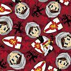 Cute Medieval Crusader Knight Pattern by MurphyCreative