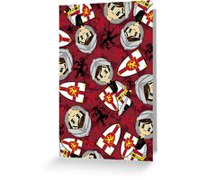 Cute Medieval Crusader Knight Pattern Greeting Card