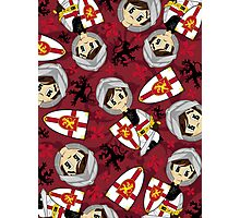 Cute Medieval Crusader Knight Pattern Photographic Print
