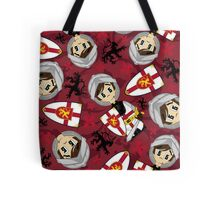 Cute Medieval Crusader Knight Pattern Tote Bag