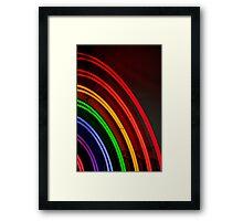 Neon Rainbow Framed Print