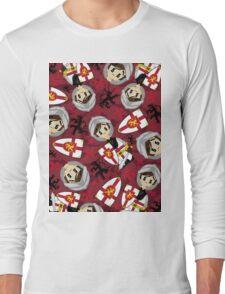 Cute Medieval Crusader Knight Pattern Long Sleeve T-Shirt