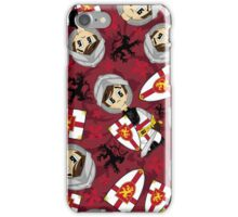 Cute Medieval Crusader Knight Pattern iPhone Case/Skin