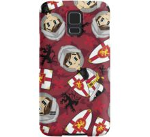 Cute Medieval Crusader Knight Pattern Samsung Galaxy Case/Skin