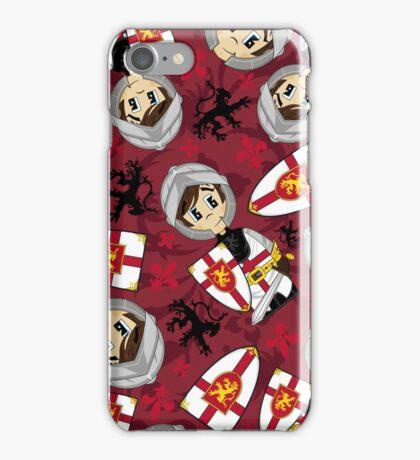 Cute Medieval Crusader Knight Pattern iPhone Case/Skin