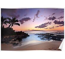 Makena Cove, Maui Sunset Poster