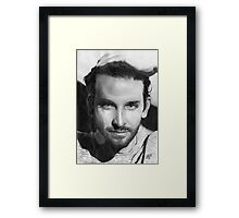 Bradley Cooper portrait Framed Print