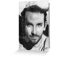 Bradley Cooper portrait Greeting Card