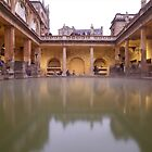 Roman Bath, Bath UK by Llewellyn Cass