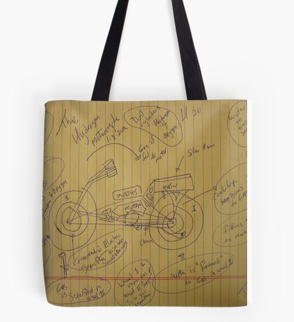 158A The Hydrogen Water Gas Powered Murphy Motorcycle 01102012 HWGPMM Tote Bag