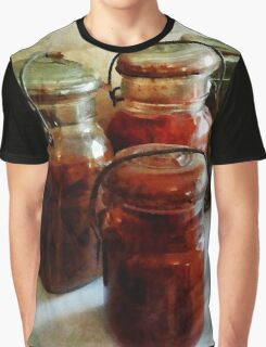 Tomatoes and String Beans in Canning Jars Graphic T-Shirt