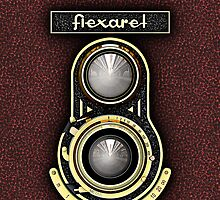 Retro brass TLR camera iPhone case by Steve Crompton