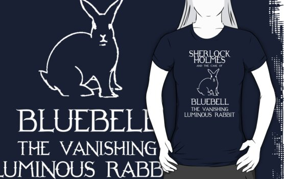 Sherlock Holmes and the case of Bluebell the vanishing luminous rabbit. by nimbusnought