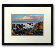 North beach Ardrossan morning Framed Print