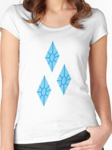 Rarity Cutie Mark - My Little Pony Friendship is Magic Women's Fitted Scoop T-Shirt
