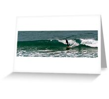 Surfing in Great Ocean Greeting Card