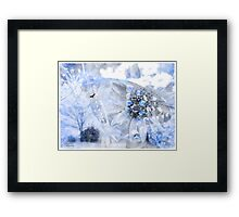 Touch of a blue Framed Print
