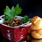Profiteroles And Chicken Heart Ragout With Champignons by SmoothBreeze7