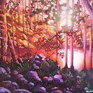 Calm Lake in Fall by Dan Wilcox