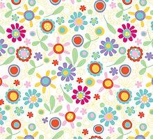 fresh flower pattern iPhone case by jillhowarth