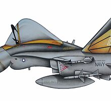F18 Hornet by Spencer Trickett