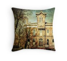 Remodeling of a Mansion Throw Pillow