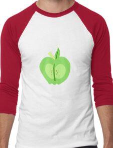 Big Macintosh Cutie Mark - My Little Pony Friendship is Magic Men's Baseball ¾ T-Shirt