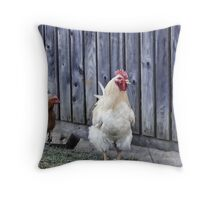 Cluckity Cluck! Throw Pillow