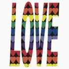 Love Rainbow Hearts by ValeriesGallery