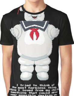 Stay Puft - Ghostbusters Pixel Art Graphic T-Shirt