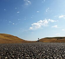 On the road in Kyrgyzstan by heinrich