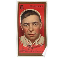 Benjamin K Edwards Collection George F Graham Boston Rustlers baseball card portrait Poster
