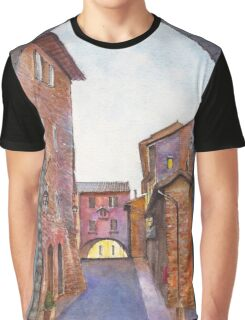 Assisi Street, Umbria, Italy Graphic T-Shirt
