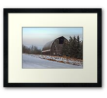 Large Barn in Trees Framed Print