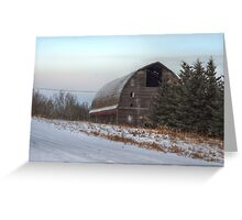 Large Barn in Trees Greeting Card