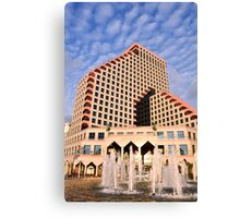 Israel Tel Aviv, The new modern residential and commercial Opera tower  Canvas Print