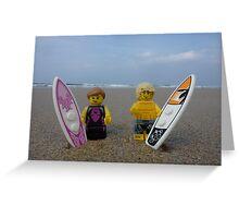 Plastic Surf Greeting Card