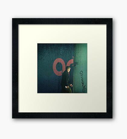 San Francisco Rain Walker Framed Print