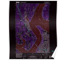 USGS Topo Map Washington State WA Gig Harbor 241272 1997 24000 Inverted Poster