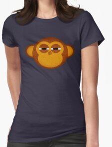 Highly suspicious monkey Womens Fitted T-Shirt