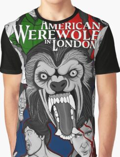 American Werewolf in London original collage art Graphic T-Shirt