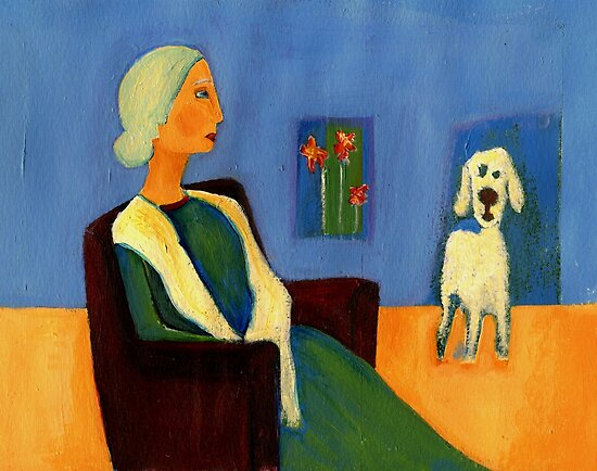 alone with the dog by agnès trachet