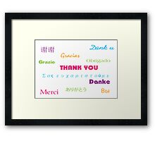 So Many Ways to Say Thanks Framed Print